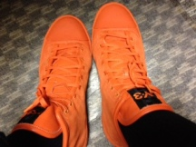 Here's What I'm Rockin' Today and Tonight in Waikiki! Bright Orange Y-3 x Adidas