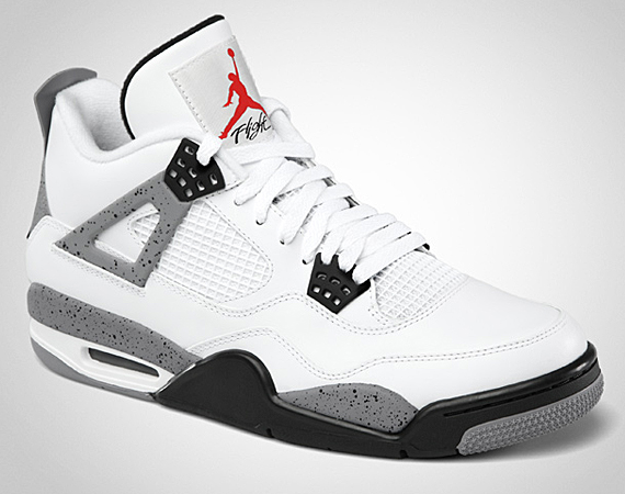 Air Jordan iv-White-Cement-Picture Courtesy of Kicksonfire.com