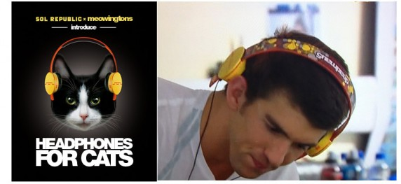 Michael Phelps x Deadmau5 x Josh Davis Headphones-Summer Olympics 2012 (2/3)