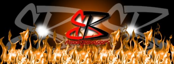 streetzblog.com Hot Orange Flames Logo