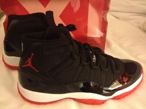 "Yep, This is really them! Jordan X1 ""BRED"" Black/Red DEC 2012"