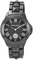Vince Camuto Black Stud Watch