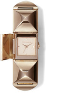 Womens Rose Gold Stud Watch