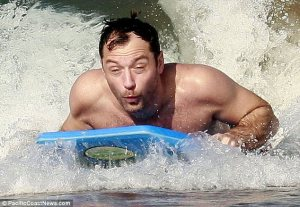 Jude Law in Maui on 12/31/12. Photo Courtesy of: PacificCoastNews.com