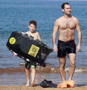 Looks like Jude needs a Tan and possibly some more waves?  Photo Courtesy of: PacificCoastNews.com