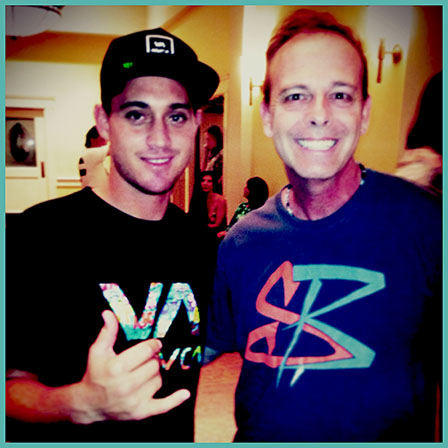 Big Wave Surfer and Musician Makua Kai Rothman and Streetzlog's Scott Mackenzie - 2014