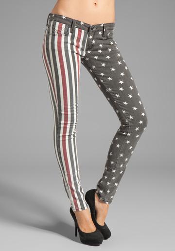 Frankie B Jeans-Stars and Stripes skinny