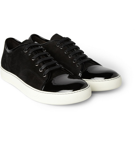 Lanvin Suede and patent leather sneaks $495