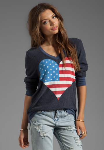 Wildfox Couture American Beach Party V Neck