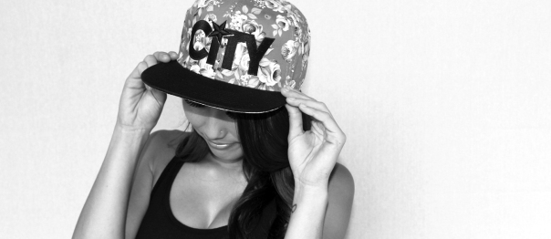 hot babe in citystars floral snapback