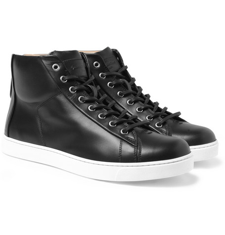 Gianvito Rossi Leather High tip sneakers