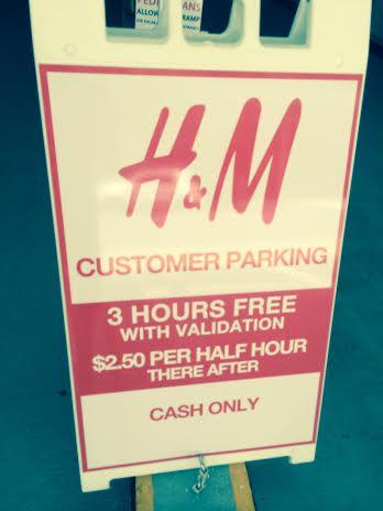 H&M validates parking in Waikii