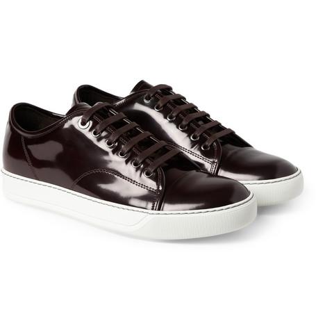 LanvinPatent LeatherSneakers-Burgandy-2014-MrPorter-streetzblog.com