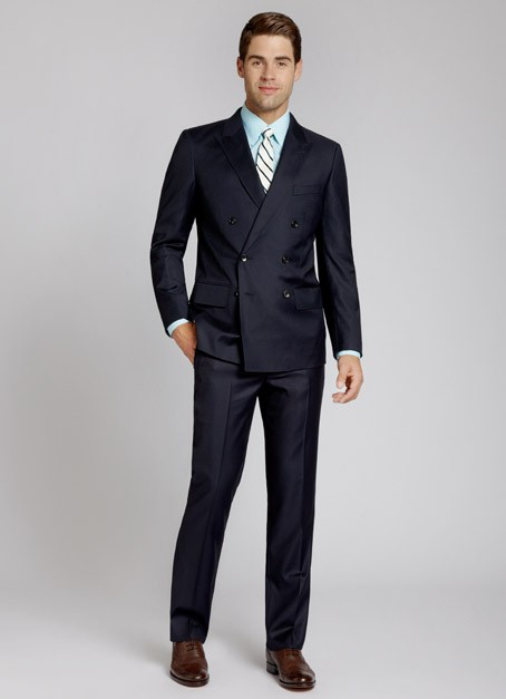 The Modern Fitted Double -Breasted Suit. Make sure you keep it buttoned up for Ultimate style!