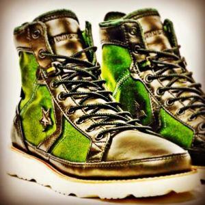 Green black white sole-Converse