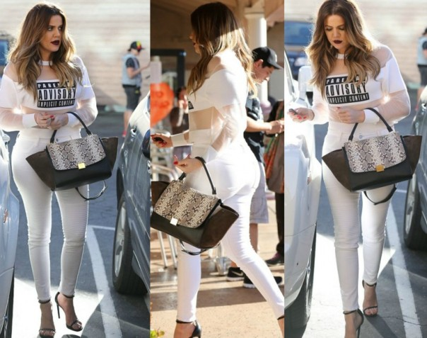 khloe-kardashian-Parental Advisory sweatshirt by Alexander Wang