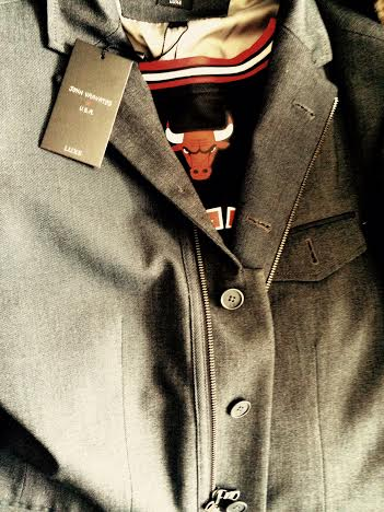 John Varvatos Suit Jacket with zippers and buttons