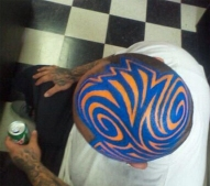 Head full of Blue and Orange