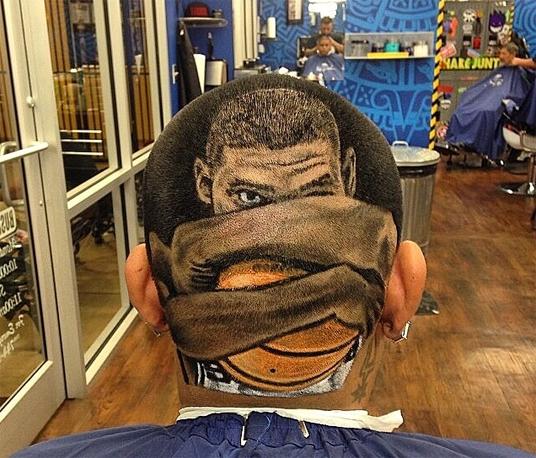 Tim Duncan Designed Hair