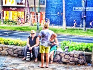 Kalakaua Ave. in Waikiki-June 2014