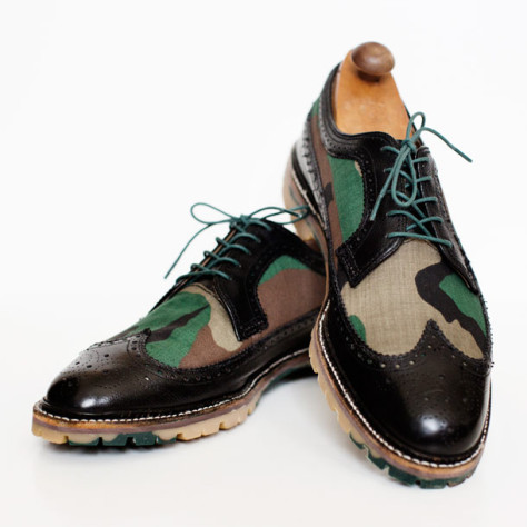 Custom Built to order black and camo wingtips