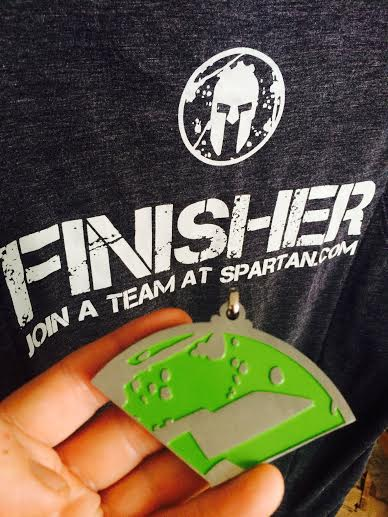 Finisher T shirt and Beast Medal from the Spartan Race in Hawaii 2014