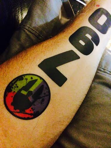 My Spartan Race Number Tattoo. My number is 790