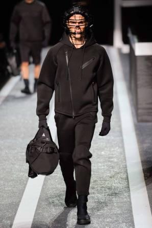 Health Goth Look. Men. Scuba Style Hoodie Jacket