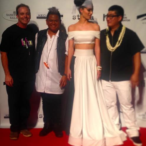 Kini Zamora from Project Runway with Scott Mackenzie