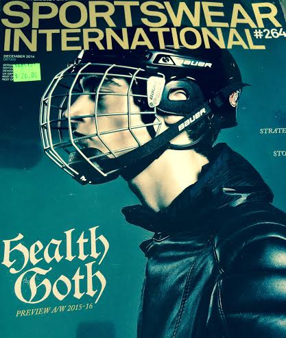 Health Goth on the cover of Sportswear International
