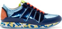 Dolce & Gabbana Blue Metallic Nigeria Sneakers
