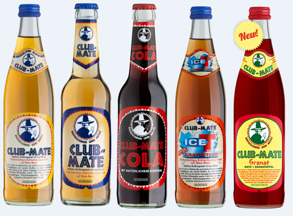 Here we can see Club-Mate in the original flavor along w/ 4 additional versions. If you get a chance to try it? LMK how it tastes? (Aug 17, 2015)