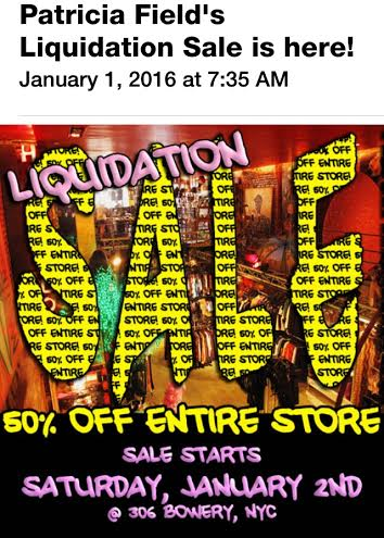 Patricia Fields Liquidation Sale Image