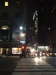 Across the street from the The Roosevelt Hotel