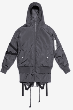 Stampd Bomber Double Layer Grey with Black straps