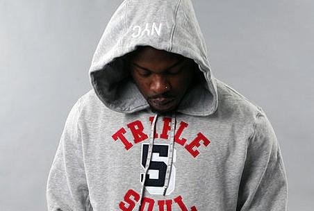 Triple 5 Soul Grey Red black hoodie