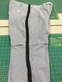 Black Tuxedo Inspired Stripe