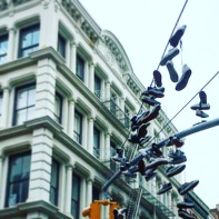 Some pretty nice Shoes in the Sky. Picture shot pretty close to the Daniel Patrick Shop in Soho.
