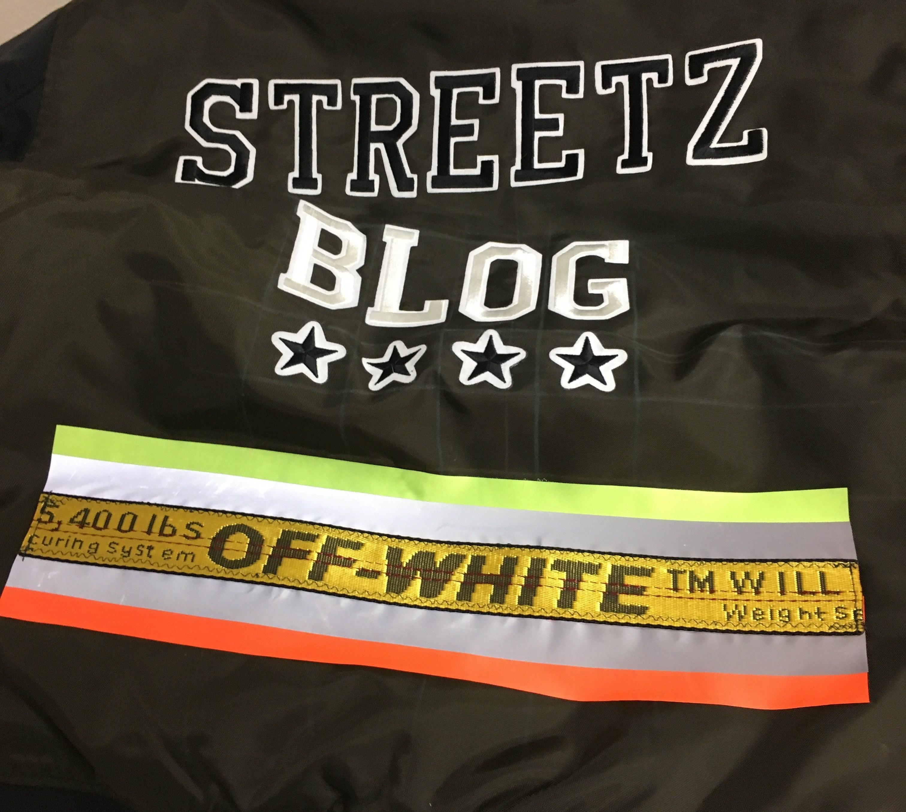 Streetzblog x H&M x Off-White Bomber Jacket 2017