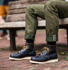 Red Wing Shoes-Dark Navy Blue Workwear Trend