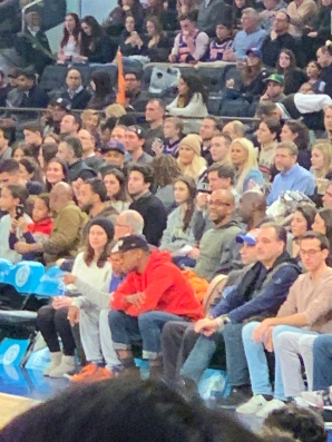 Celebs at MSG-Knicks Game NYC