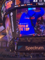 T Shirt Toss at the Top of MSG