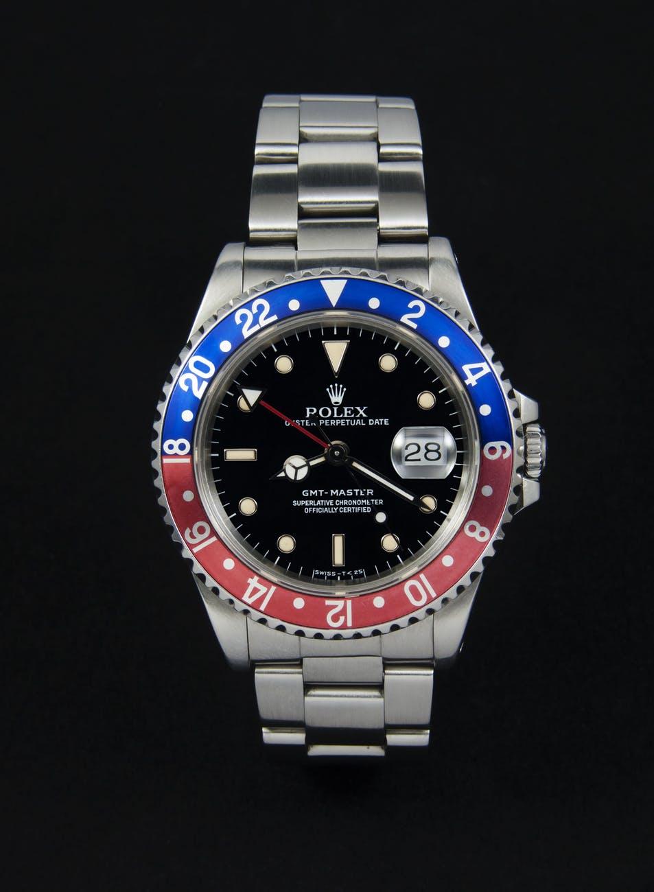 luxury clock wrist watch gmt master